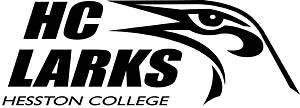black and white Larks logo